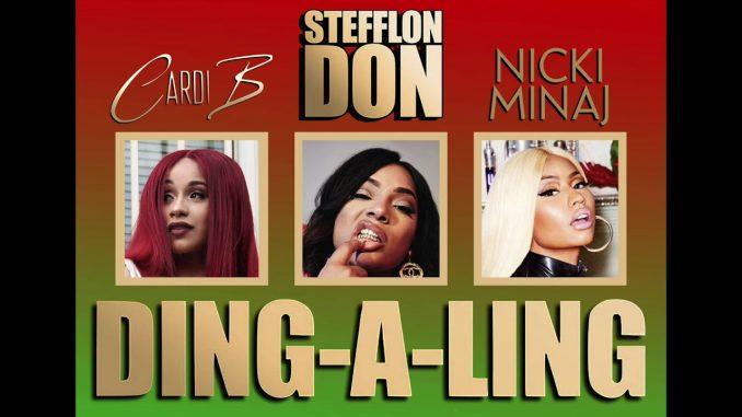 stefflon don nicki minaj cardi b ding a ling remix abegmusic